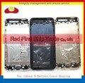 10 Шт./лот Замена Для Iphone 5 5G Назад Крышка Корпуса Крышка Батарейного Отсека Дверь Задняя Крышка Корпуса Рамка Белый Черный Золото Выросли
