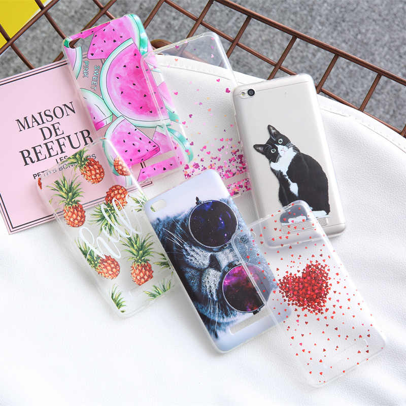 THREE-DIAO For Xiaomi Redmi 4 4X 4A Note 4 4A 5A Soft TPU Painting Design Phone Cover Case For Xiaomi Redmi 4A 5A 3 4 Pro