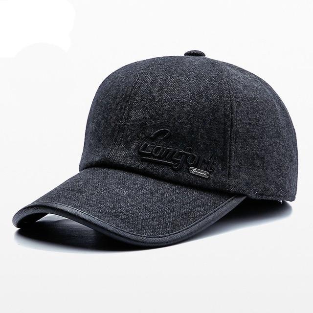 JAMONT gorra para hombres Casual gorro Otoño Invierno visera Cap protección  del oído sombreros del Snapback 5a870d96357