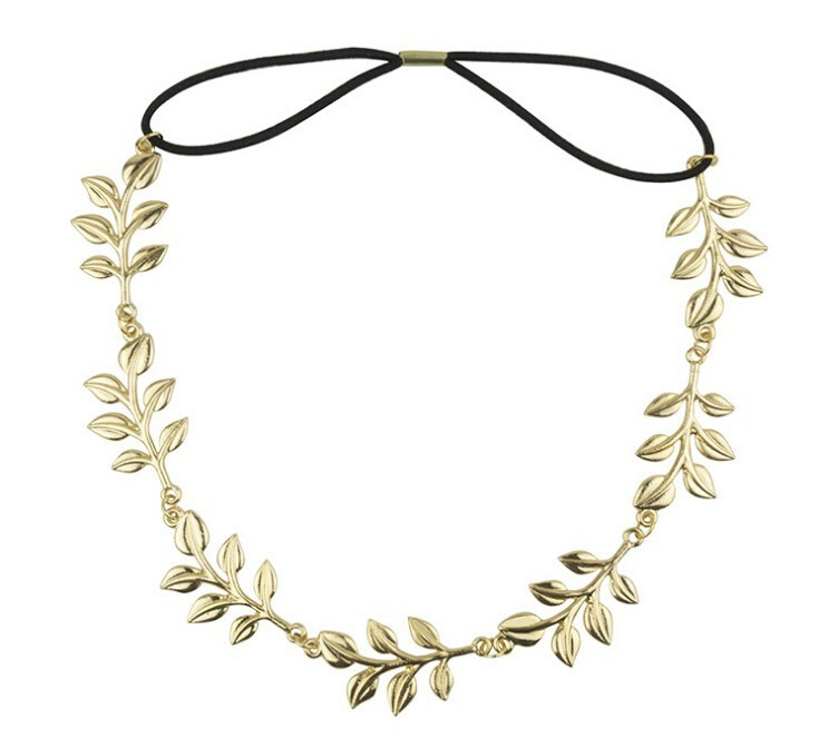 Metting Joura Fashion Bohemian Leaf Hair Chain Vintage Boho Headband For Women Girls metting joura vintage bohemian ethnic colored seed beads flower rhinestone handmade elastic headband hair band hair accessories