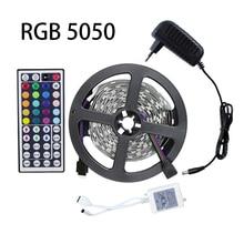 5M RGB Led Strip Light Kit SMD5050 150Leds Flexible Light Led Tape+44Keys Remote Controller+12V 2A Power Supply Home Decoration