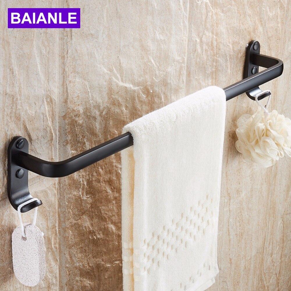 €19.19 19% de réductionSalle de bain simple porte serviettes dans la  douche porte serviette espace aluminium Style moderne noir support mural