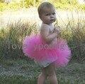Falda del tutú del bebé de cumpleaños del bebé falda del tutú muchachas de la falda de petti del tutú rosa rosa color niñas falda MOQ 1 unid