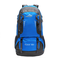 60L Waterproof Camping Hiking Climbing Mountaineering Backpack Nylon Shoulder Bag Men And Women Outdoor Travel Bags