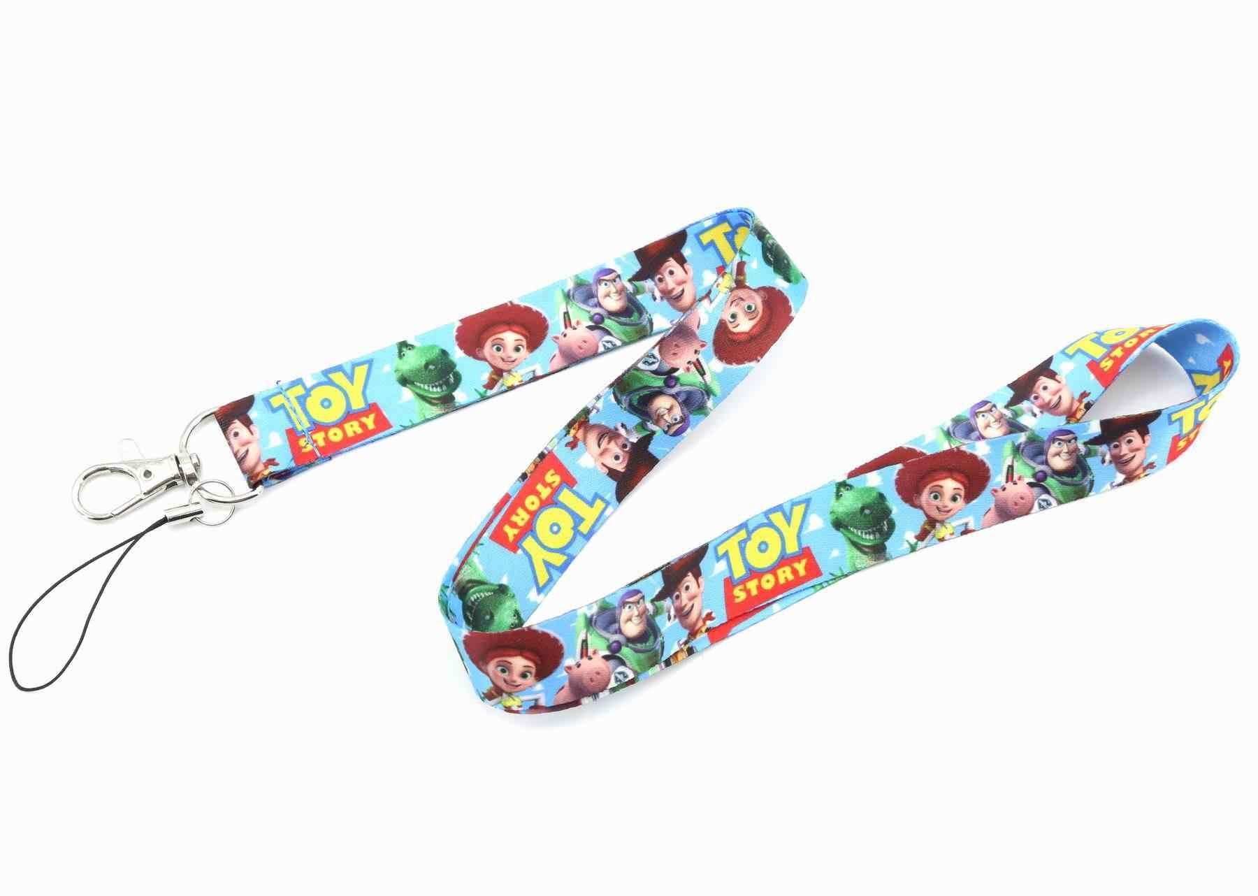 Nuevo Toy Story 4 Buzz Lightyear Woody Forky Cordón de teléfono móvil llavero llaveros Anime juguetes niños regalos de cumpleaños