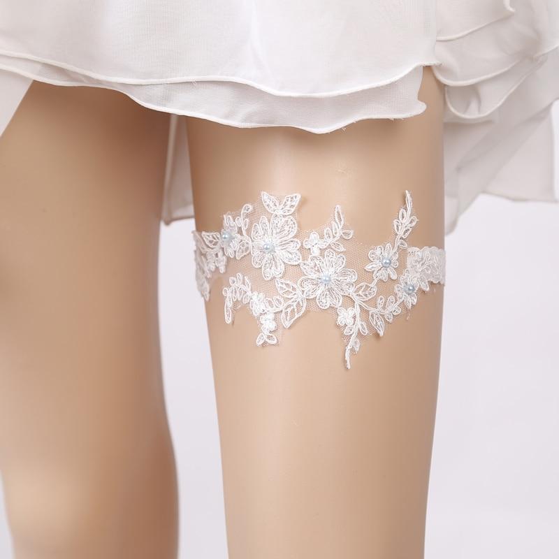 Wedding Garter Rhinestone Embroidery Flower Beading blue Sexy Garters for  Women Female Bride Thigh Ring Bridal Leg GarteUSD 3.55 set 4eb7c8db4839
