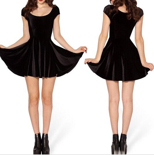 Низкая цена черный бархат зло болельщик 2.0 женская одежда бархатное приталенное платье зимние платья Винтаж Стиль плиссированные платья