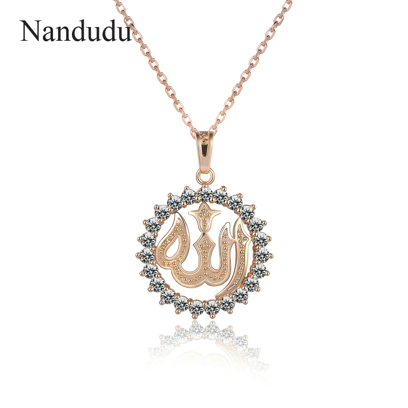 Nandudu Austrian Crystal Round Pendant Necklace Special Design Fashion Women Girl Sweater Chain Mothers Day Jewelry Gift CN252