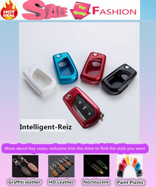 De Calidad superior cubierta de diseño de coches detector ABS Pintura Ralink keys bolsa casos Billetera cadena inteligente/fold para T0Y0TA Reiz especial