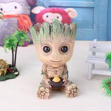 Cute Action Figures Baby Flowerpot Toy Pen Pot Holder PVC Hero Model Vessel(China)