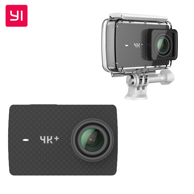 Original Xiaomi YI 4K+ Action Sport Camera 4K + plus 2.19 Ambarella H2 for IMX377 12MP 155 4K Ultra HD Sports Camera xiaomi yi 4k action camera 2 ambarella a9se sony imx377 1400mah