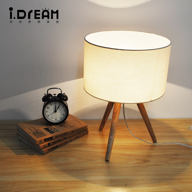 все цены на  IDERAN wooden table desk night lightbase book lights lampshade e27 holder mini retro bedside lamp  lamparas for home bedroom  в интернете