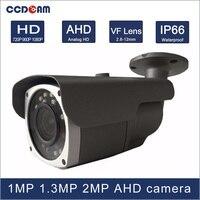 CCDCAM 24 cái micro Mảng IR leds 40 m IR khoảng cách 1MP 1.3 MP 2MP độ nét cao day and night vision AHD 2.8-12 mét VF ống kính máy ảnh