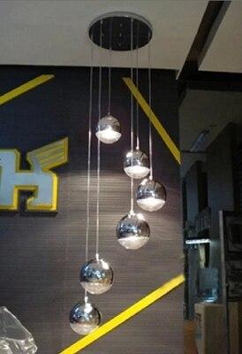 Aliexpress Vernickelt Kugelpendelleuchte Silber Glaskugel Pendelleuchte Restaurant Lampe Wohnzimmer Lampen Bar Treppenleuchte Von Verlasslichen
