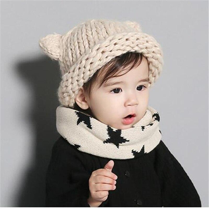 Black Cat Hat  Beanie   Crochet  Handmade  Winter Hat  Children/'s  Fashionable  Warm  Halloween
