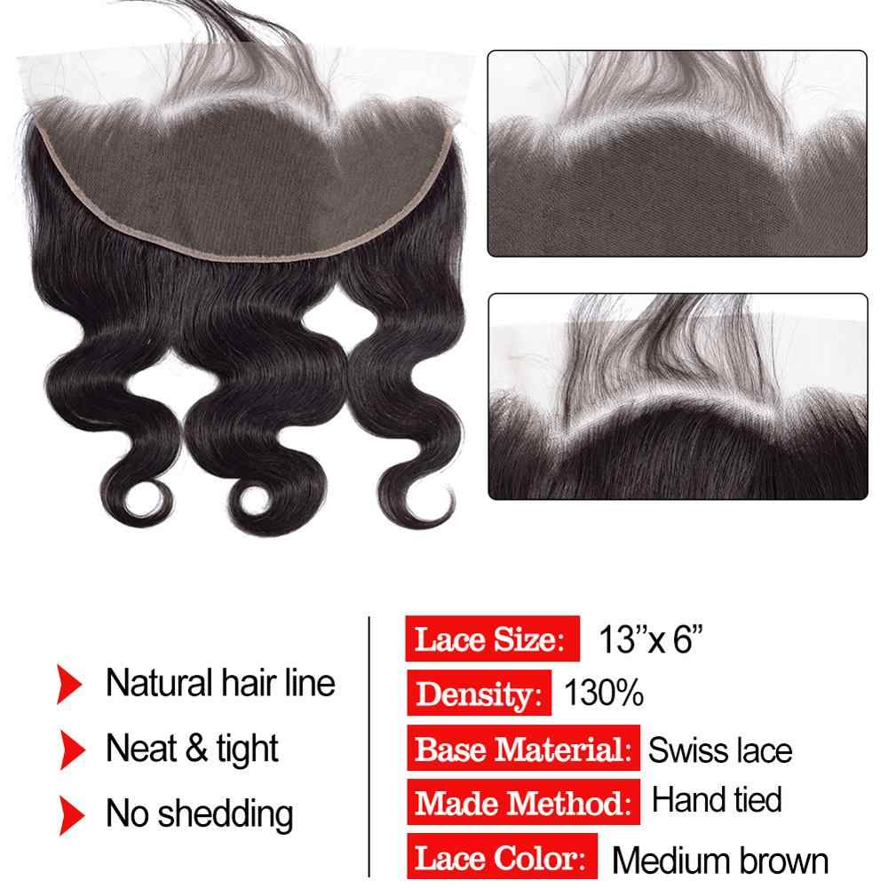 Мобок бразильский объемный волнистый 3 пучка с фронтальным плетением человеческих волос пучки с закрытием не Реми 13*6 синтетический фронтальный с пучками