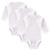 3 pçs/lote marca clothing set 100% de algodão do bebê da menina do menino Planície branca de Mangas Compridas Roupa Interior Recém-nascidos Próximos Jumpsuits & Rompers 0-12 M