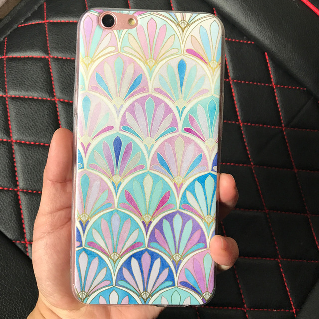 Cases For Vivo New Y53 Back Covers For Vivo V7 PLUS Crown Flower Soft Tpu  Cases a927820cf5b0