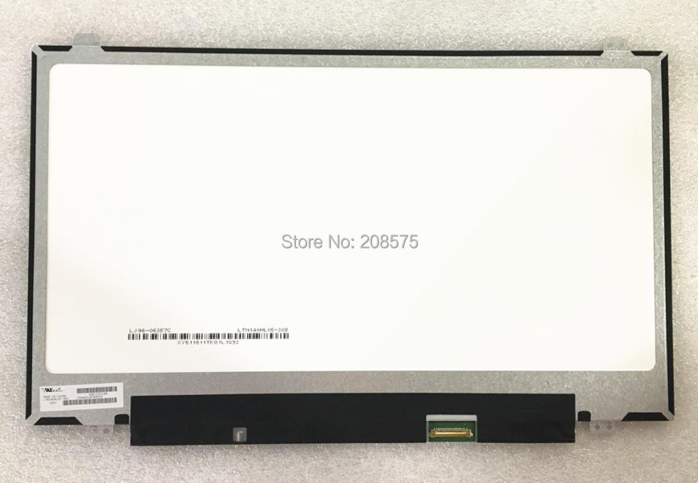 Free Shipping LTN140HL05-H01 LTNHL05 14.0'' inch slim LED Laptop LCD screen panel free shipping original 9 inch lcd screen cable numbers kr090lb3s 1030300647 40pin