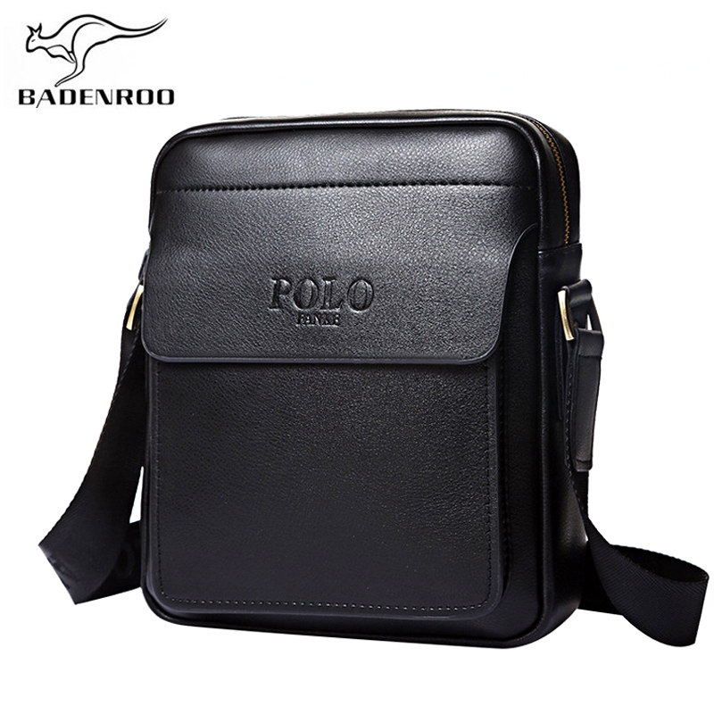 Badenroo Genuine Leather Polo Men Shoulder bags Classical Messenger Bag Cross Body Bag Fashion Casual Business Handbags for Men 2016 new leather men bag classical messenger bag men fashion casual business shoulder handbags for men bag hot free shipping