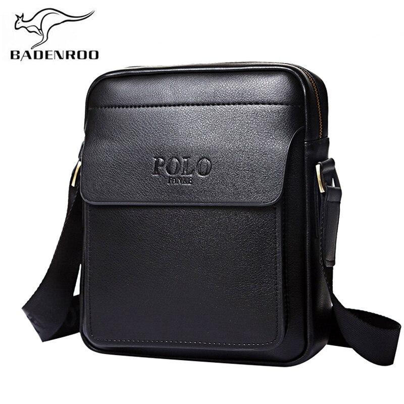 Badenroo Genuine Leather Polo Men Shoulder font b bags b font Classical Messenger font b Bag