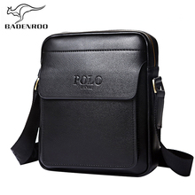 Badenroo Genuine Leather Polo Men Shoulder bags Classical Messenger Bag Cross Body Bag Fashion Casual Business Handbags for Men
