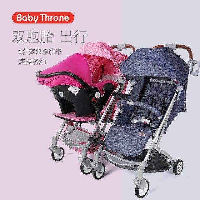 New Twin Stroller Car Seat 2 In 1 Split Folded Reclining Baby BB