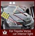 Guang Dian 6 Unids/lote coche luz led lámpara de luz interior de la bóveda kit de la luz de Techo luz de lectura del adorno T10 Para Toyota Verso 2009-2015