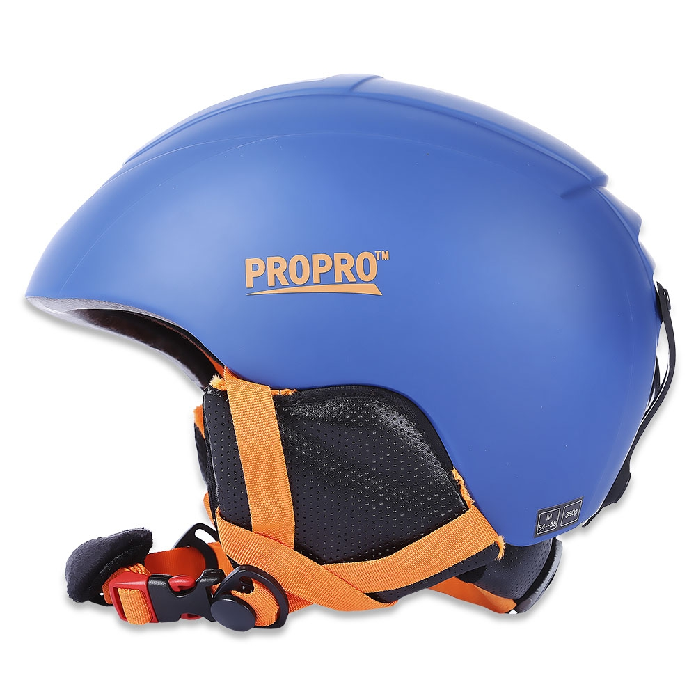 PROPRO All-in-one Skiing Helmet with Inner Adjustable Buckle Liner Cushion Layer Sports Safety Skiing Helmets  ABS Plastic black kayak boating water sports helmet abs out shell prefessional water skiing helmet
