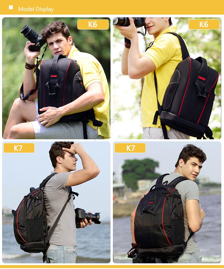 CADeN Professional Travel Waterproof Fashion Camera Backpack Photo tas Digital Camera Bag Case for Dslr Sony Canon Nikon K6K7 1