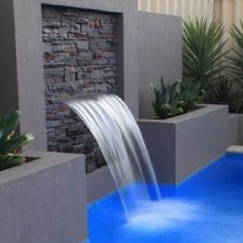 waterproof  900mm length stainless steel RGB  LED water fall strip/ waterfall led spa pool light  with 1pc remote light control