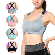 High Quality Promotional Bras Hot Sale Sexy Cross Solid M-L Free Wire 1PC 4Colors Ladies Shockproof