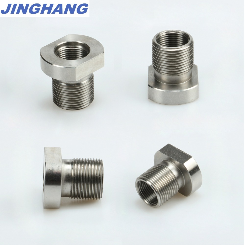 1PCs 5/8-24 Male To 1/2-28 Female Thread Adapter Stainless Steel Suppressor Adapter, Shipping From CHINA / USA