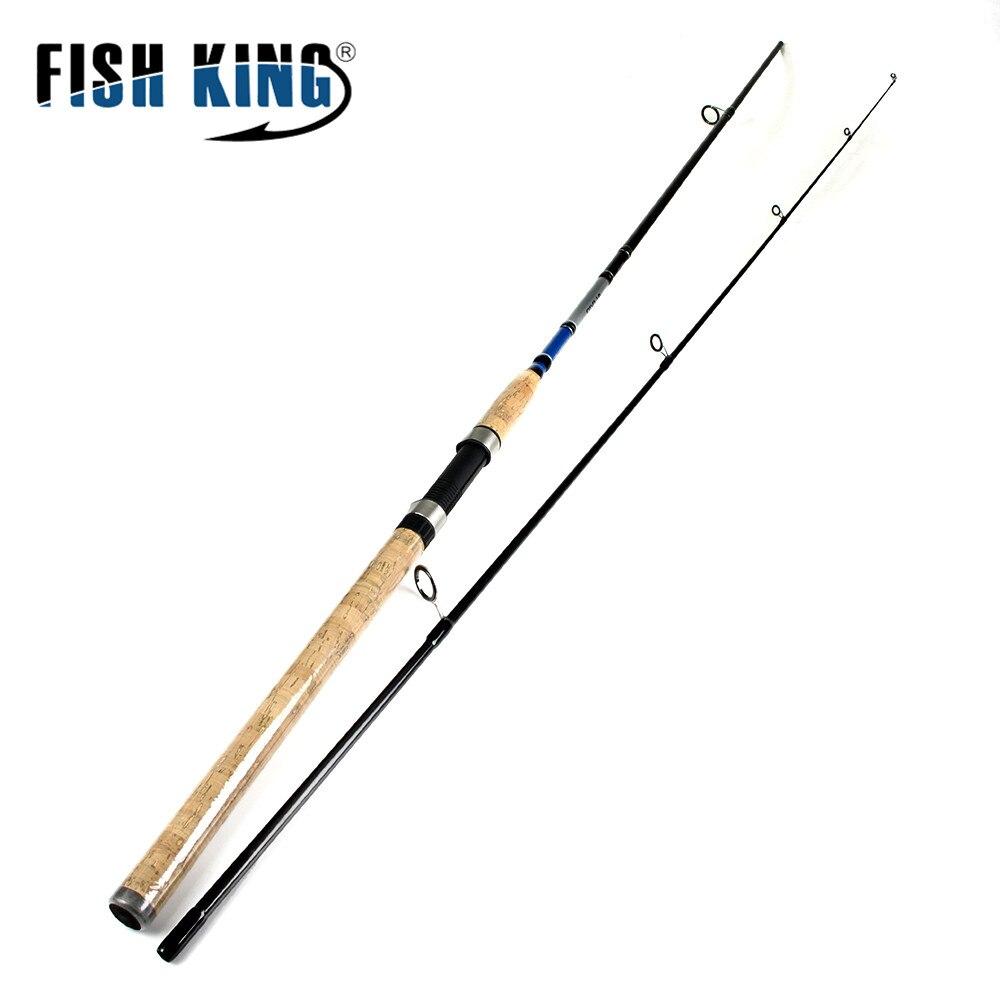 Fish king 99% de carbono 2.1 m 2.4 m 2.7 m 2 sección señuelo suave Atraer Peso 3-40g Spinning caña de Pescar caña de Pescar Para la Pesca Con Señuelos