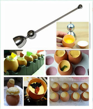 1 pcs Stainless Steel egg tool cooking eggs kitchen gadget egg shell cutter K6834