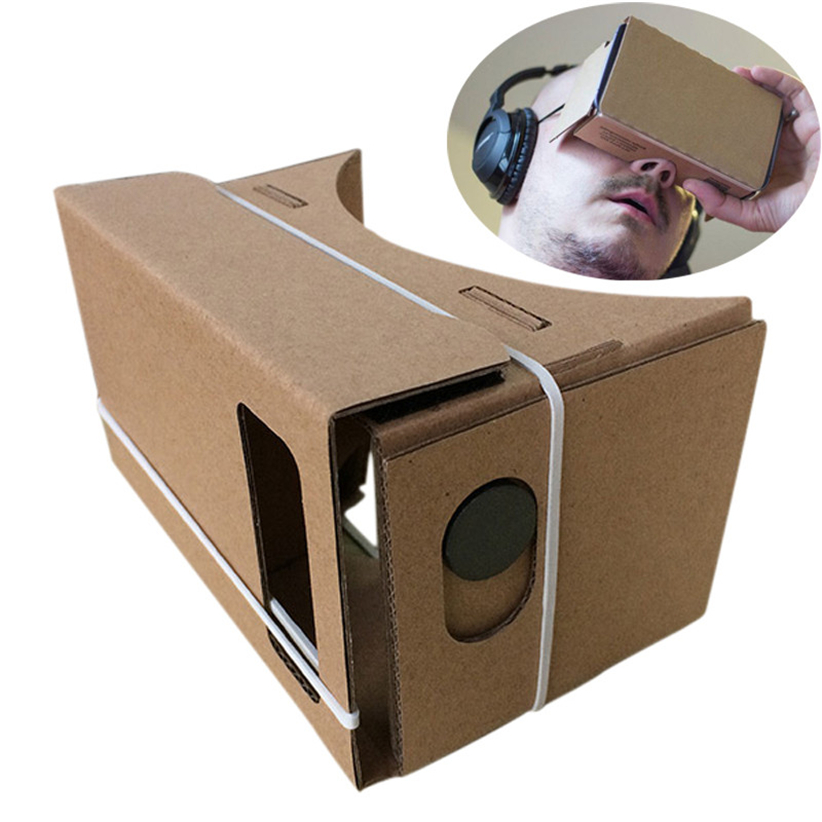 6 дюймов DIY Google cardboard 3D VR виртуальной реальности Очки ДВП futural цифровой jull7