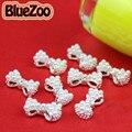 BlueZoo 10 unids/pack 3D Blanco de la Aleación Perla de Faux Del Rhinestone Pajarita Decoración AB Clear Red Rhinestone Decoración de Uñas de Arte 13mm * 6mm