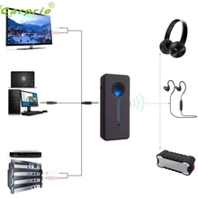 Nueva arrivalwireless bluetooth transmisor de 3.5mm de coches aux cable de audio estéreo receptor de música led adaptador para ipad/iphone/samsung/pc fe9