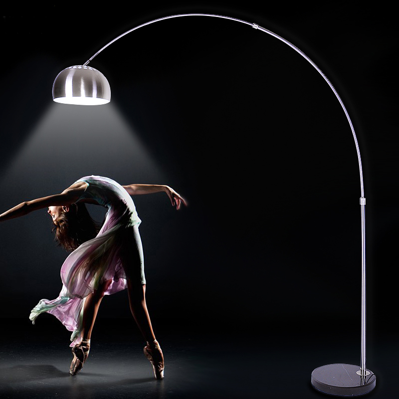 Moderne Kreative Boden Licht Lange-neck Parabel Form Chrom Farbe Einstellbar Steh Lampe E27 Lampe Standortwahl Zimmer Home Deocration Lampen & Schirme