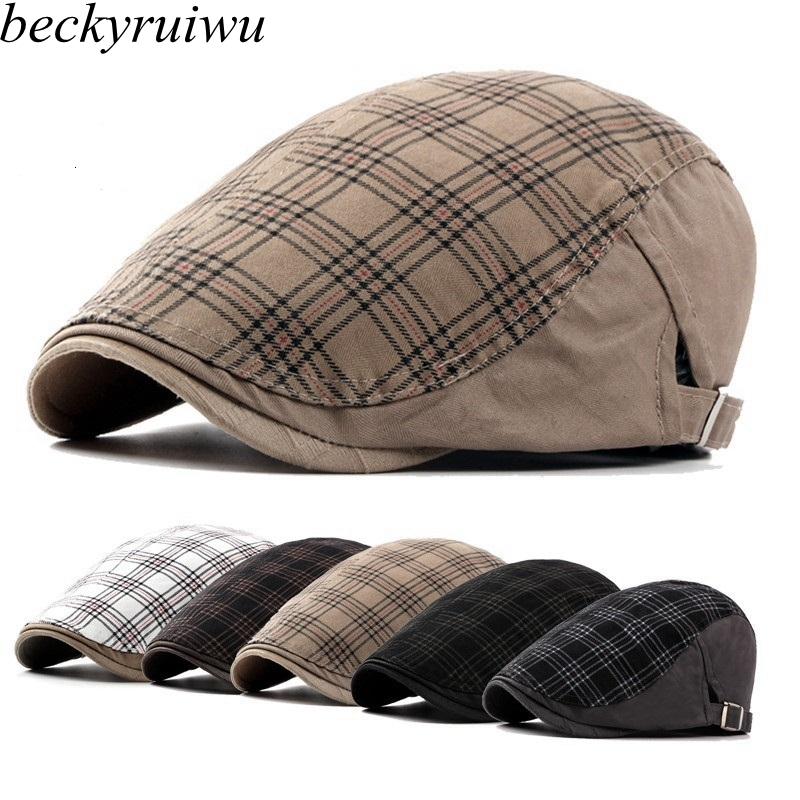 Cap Berets Large-Size Hat Newsboy-Caps Male Women Casual 56-62cm Big-Head Ivy