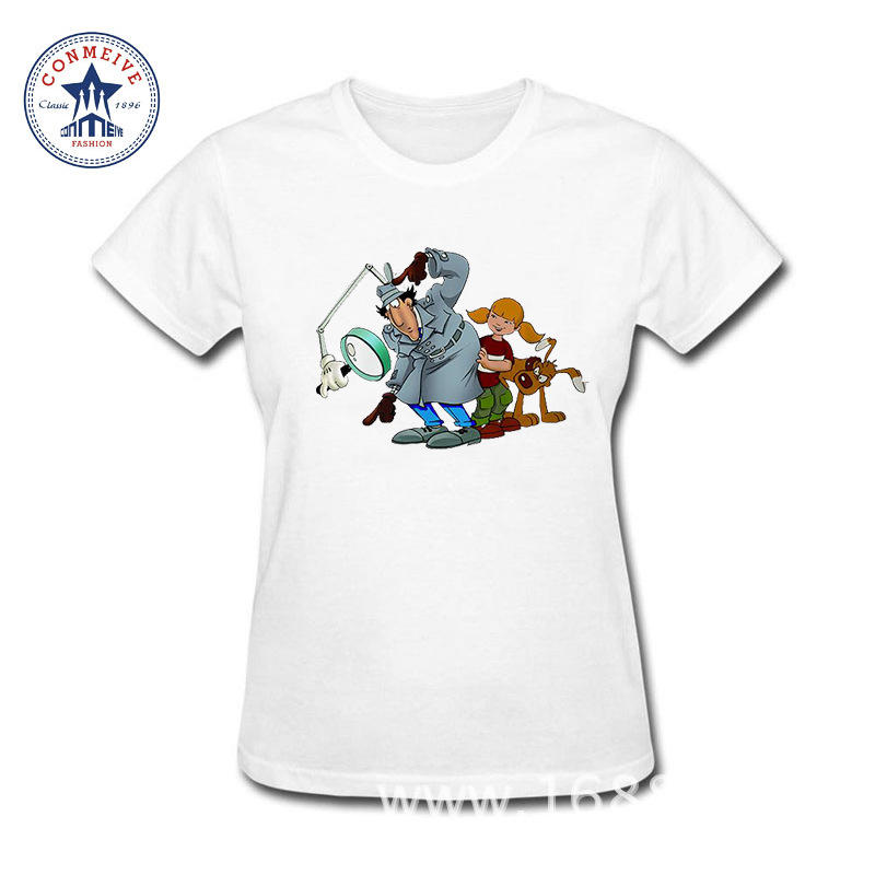 2017 Funny Graphic Funny Inspector Gadget Cotton funny t shirt women