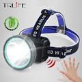 Налобный фонарь для ночной рыбалки  8 люмен  ИК-датчик  светодиодные фары  USB  водонепроницаемая перезаряжаемая велосипедная лампа  встроенн...