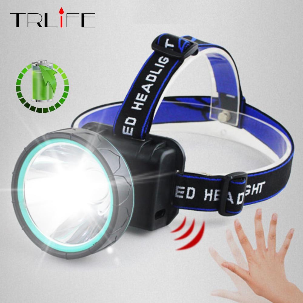 8000LM Night Fishing Headlamp IR Sensor LED Headlamps USB Headlight Waterproof Rechargeable Cycling Lamp Built-in Battery Light