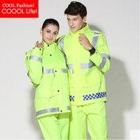 Safe Night Reflective Men Woman Motorcycle Raincoats Pants Burber Ry Outdoor Hooded Rain Jacket Suits Capa