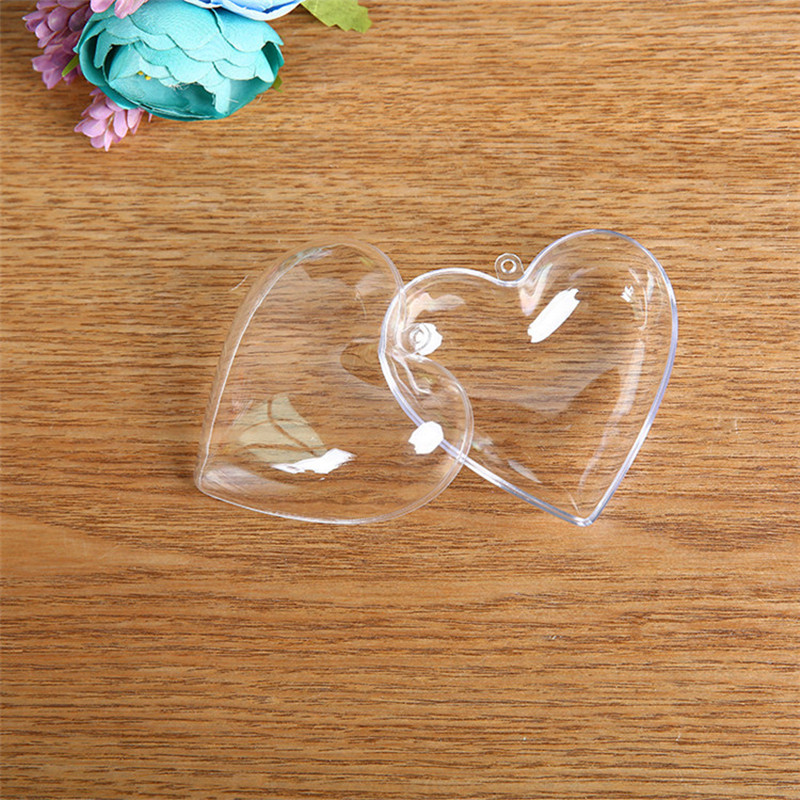 20pcs Plastic DIY Candy Box Wedding Gift Lovely Heart Shape Chocolate Candy Boxes And Gift Bags Birthday Baby Shower Decoration in Gift Bags Wrapping Supplies from Home Garden