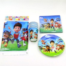 Cartoon Paw Patrol Theme birthday Party Paper Plates u2013 20pcs napkin+20pcs cups+20pcs plates+1pcs tablecovers  sc 1 st  lipikart & Online shopping for Party Supplies and Tablewares with free ...