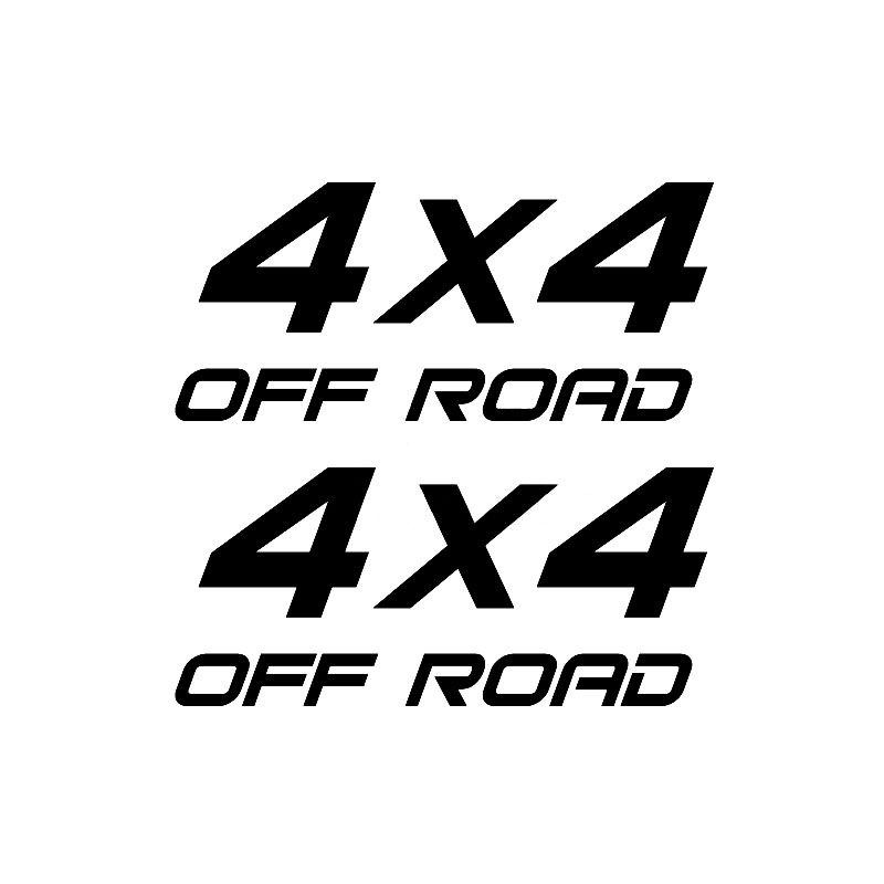 16.8cm*16.4cm 2X <font><b>4X4</b></font> <font><b>OFF</b></font> <font><b>ROAD</b></font> Truck Suv Interesting Vinyl Decals Car <font><b>Sticker</b></font> Car-styling Black/Silver S6-3551 image