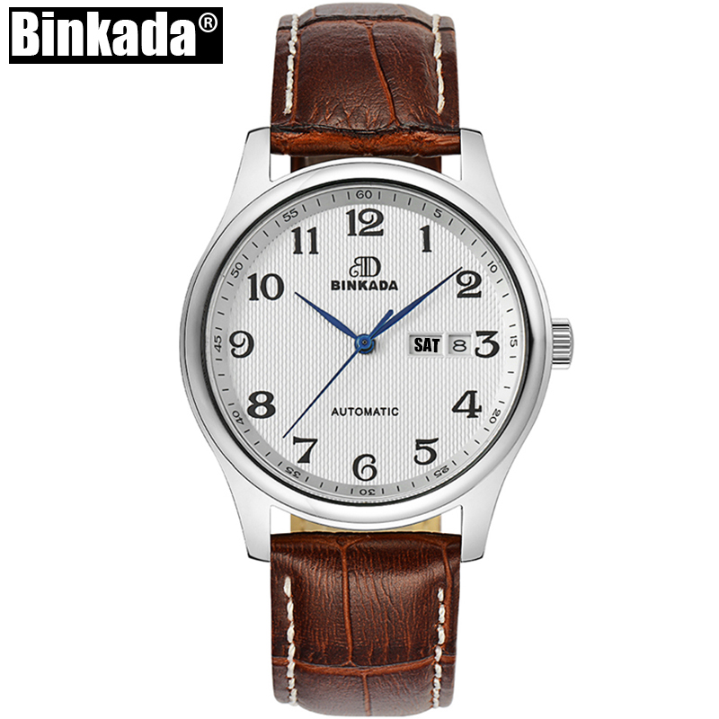 Classic Mens Watches Top Brand Luxury Automatic Business Watch High Quality Business Calendar Male Clock Black Mechanical Watch ultra luxury 2 3 5 modes german motor watch winder white color wooden black pu leater inside automatic watch winder
