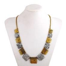 Женское винтажное ожерелье lzhlq длинная цепочка свитер с геометрическим