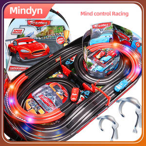 Brainwave mind control railway double track racing car attention EEG feedback track toy Concentration training